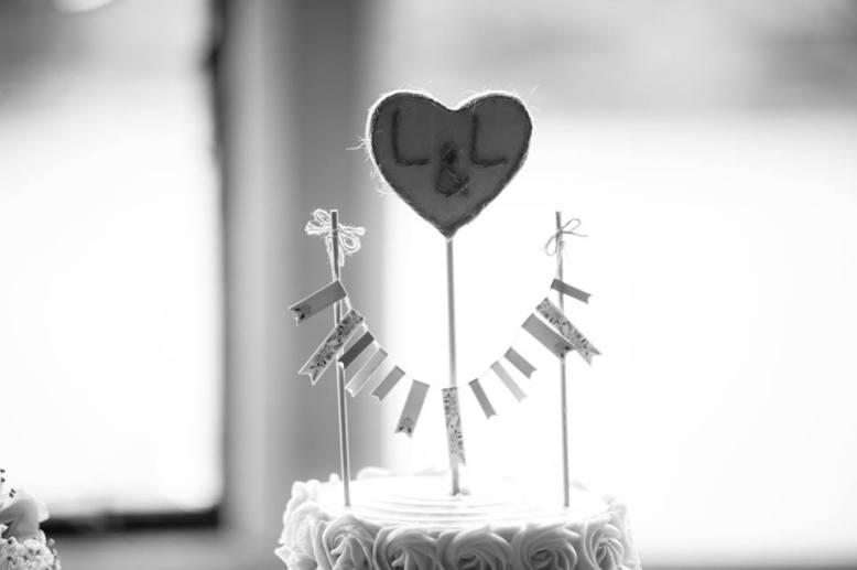 Bride's cake topper